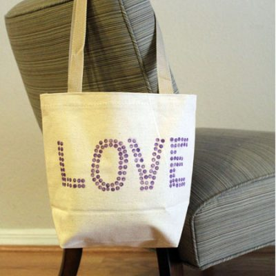 DIY: Stamp printed totebag