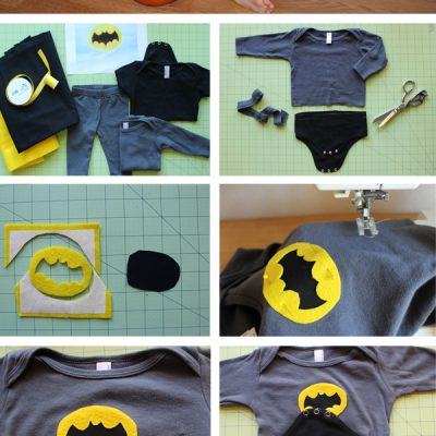 DIY Baby Batman Halloween Costume