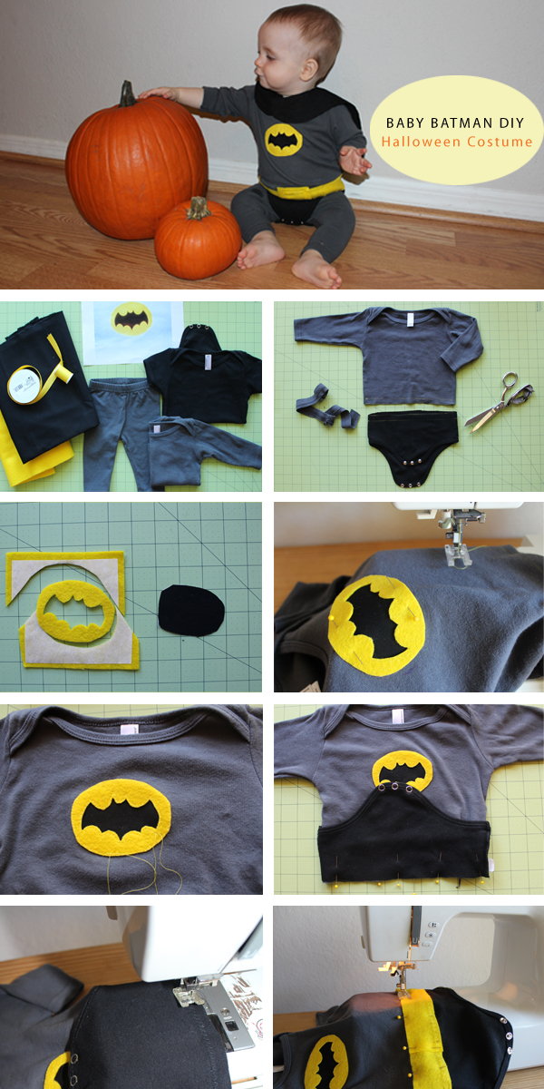 Happy Halloween everyone. & DIY Baby Batman Halloween Costume | Haberdashery Fun