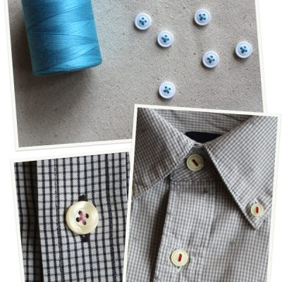 Easy DIY: Update your hubby's button up shirt