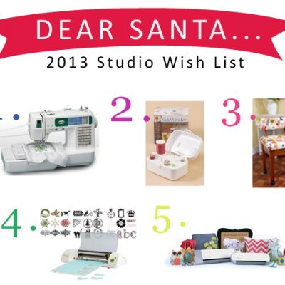 2013 Wish List.. Gifts that make you want to create something..