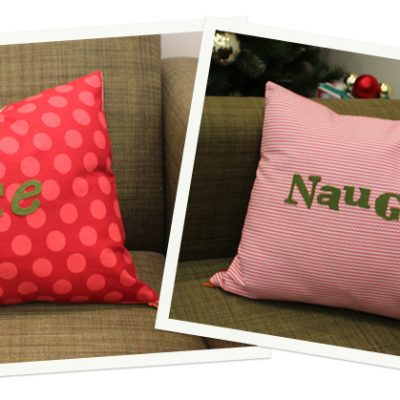 Happy Holidays DIY.. Naughty vs Nice Pillow