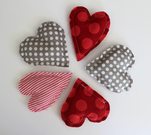 DIY.. Heart Shaped Sachets