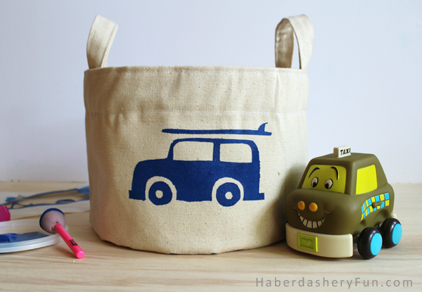 Superbe Cotton Canvas Storage Bin