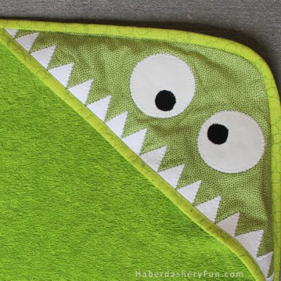 Sew A Monster Inspired Hooded Towel