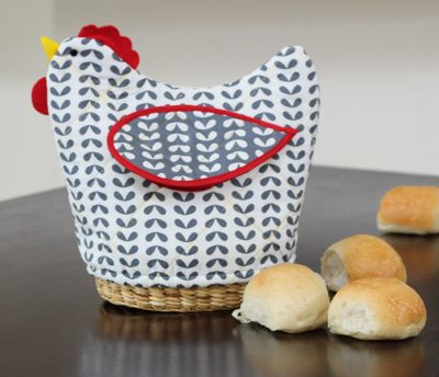 DIY.. Quilted Bread Basket Cover