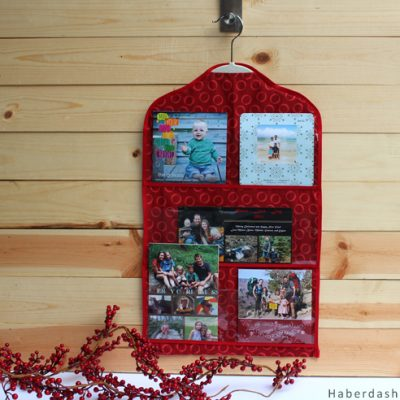 DIY.. Make A Mini Holiday Card Organizer