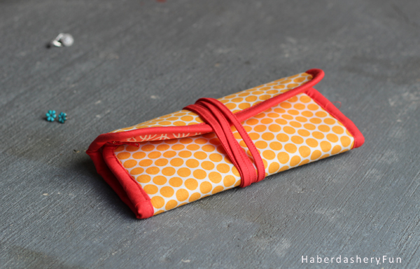 DIY Make A Mini Jewelry Roll Haberdashery Fun