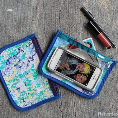 DIY… Make A Vinyl and Fabric Cosmetic Pouch