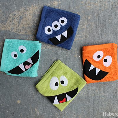 DIY.. Make Monster Inspired Face Cloths