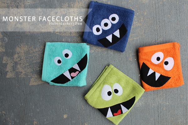 Monster Facecloths HaberdasheryFun