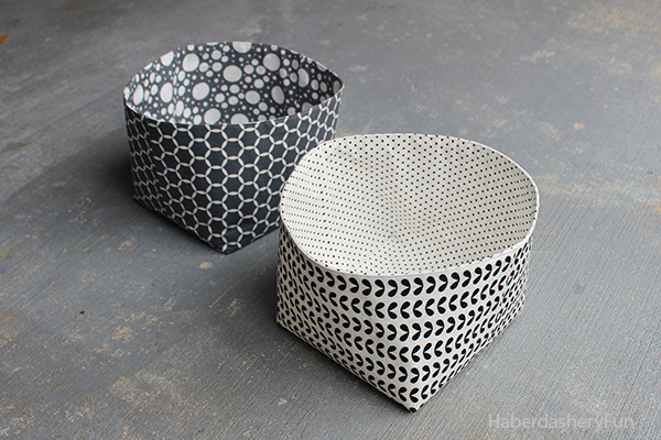 Reversible Fabric Storage Bin