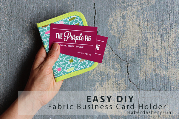 Diy easy business card holder haberdashery fun diy easy business card holder reheart Images