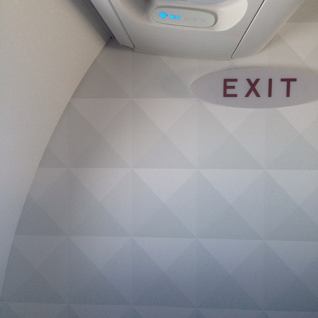 Hello Delta Airlines wall... Inspiration for a new HST pillow??#inspiration