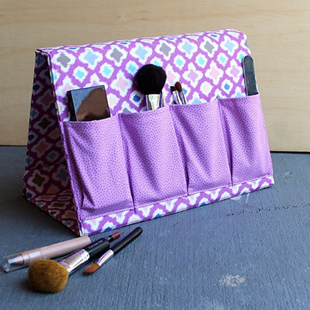 Sew a fabric A-Frame organizer. Tutorial on the blog today. #sewyourstyle #joannhandmade #pellonprojects #haberdasheryfun