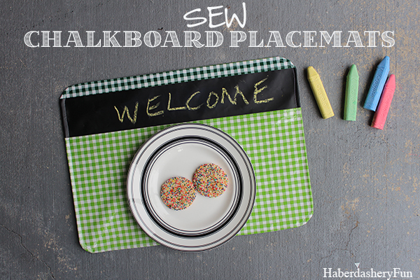 Chalkboard and Oilcoth placemats HaberdasheyrFun