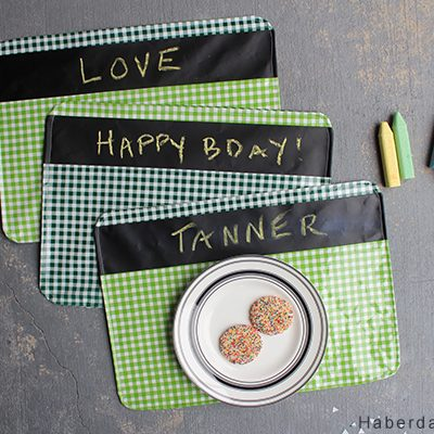 DIY.. Chalkboard Fabric Placemats