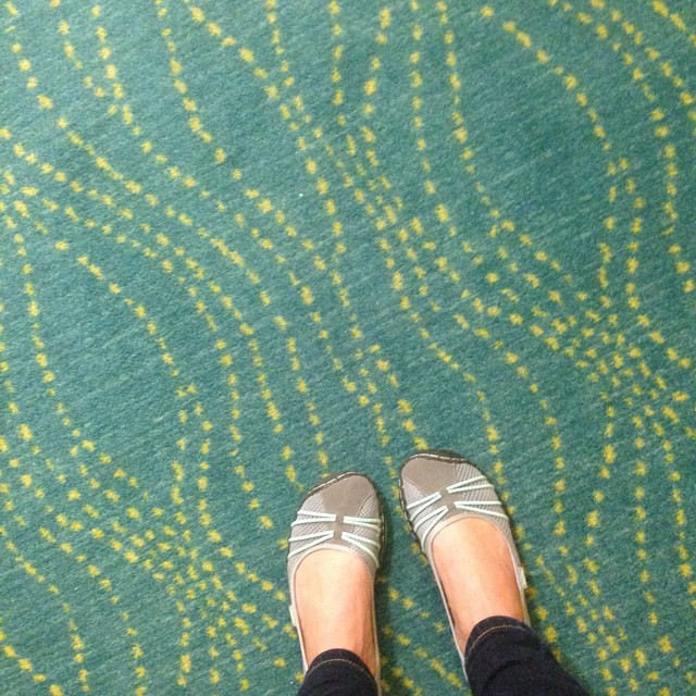 Hotel carpet series. Kinda like this print. Fresh colors. #traveltoomuch #colorpop