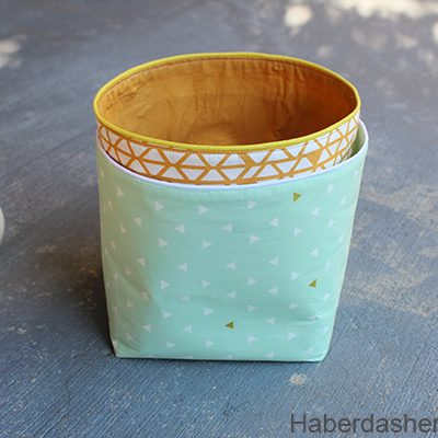 Sew Storage Bins With Piping Trim