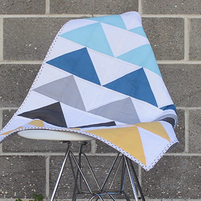 Today is my stop on the @sizzix Quilt Blog Hop.. Had a lot of fun making this simple baby quilt. #sizzix #handmade #sew #quilt