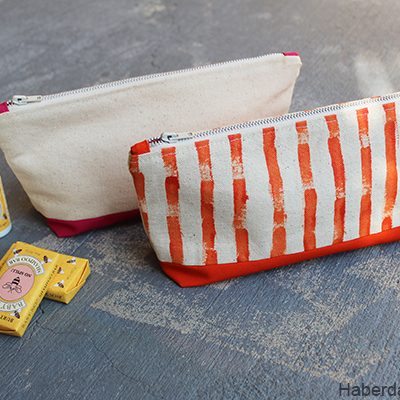 DIY.. Colorful Canvas Pouches