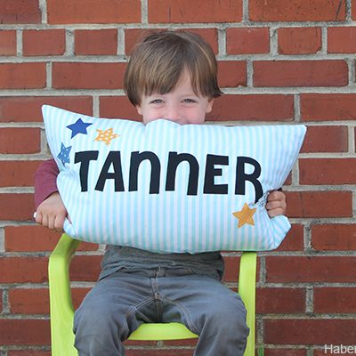 DIY.. Kids Name Pillow + Giveaway