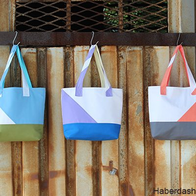 Sew Asymmetrical Color Block Totes Tutorial