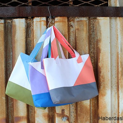 Sew Asymmetrical Color Block Totes