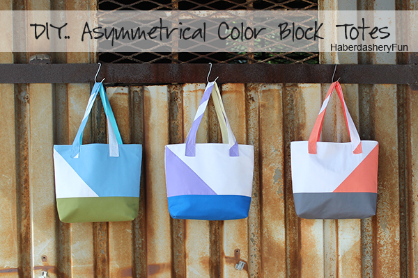 HaberdasheryFun Color Block Totes main