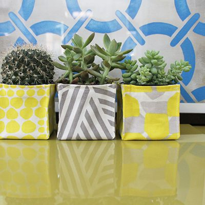 Sew Mini Fabric Planter Bins