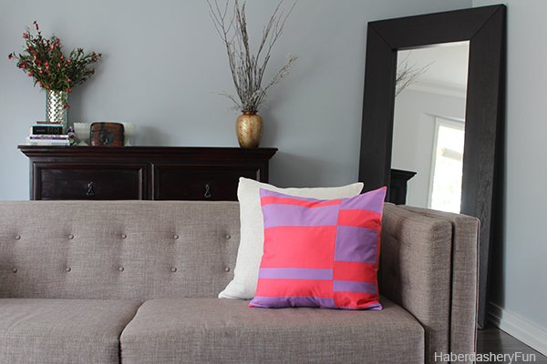 Color Blocked Pillow Couch HaberdasheryFun