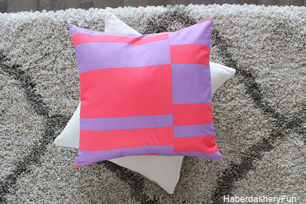 Color Blocked Pillow Floor HaberdasheryFun