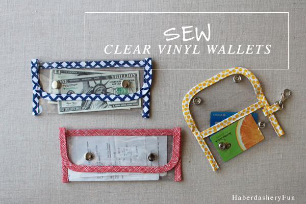 Sew Clear Vinyl Wallets Main