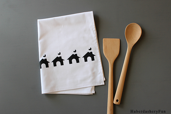 Black Tea Towels HaberdasheryFun