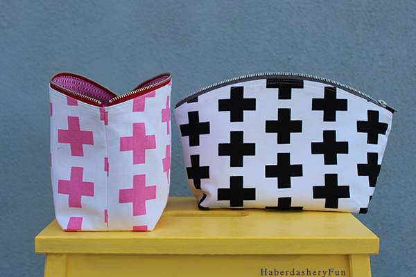 Curvy Zip Clutch Haberdashery Fun