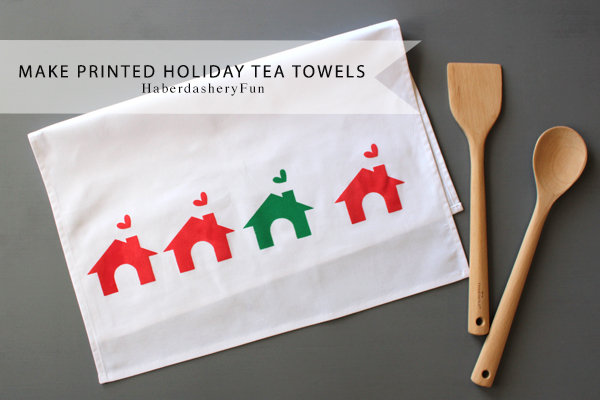 Make Printed Tea Towels HaberdasheryFun