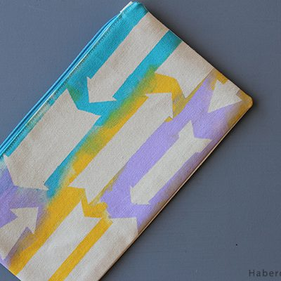 Sew A Colorful Printed Zipper Pouch