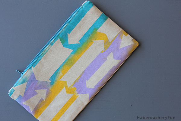HaberdasheryFun Arrows Pouch close up