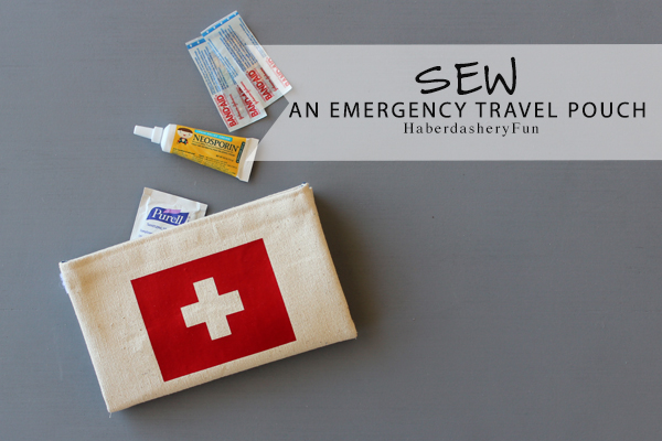 Emergency Travel pouch HaberdasheryFun