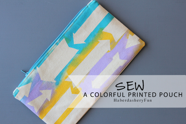 Sew A Colorful Printed Pouch HaberdasheryFun