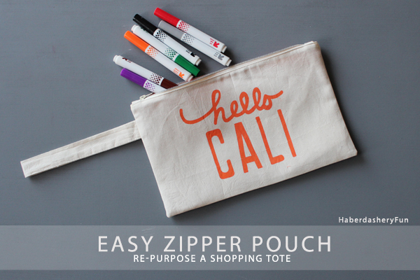 Shopping Tote Zipper Pouch Main