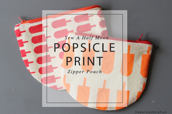 Popsicle print half moon pouch