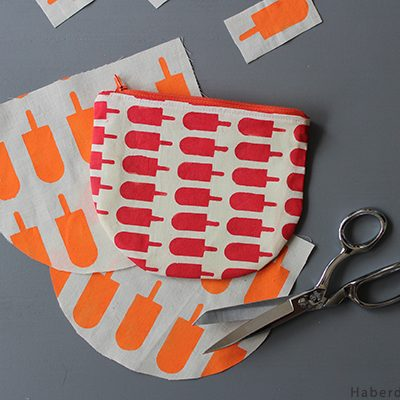 Make A Half Moon Printed Pouch