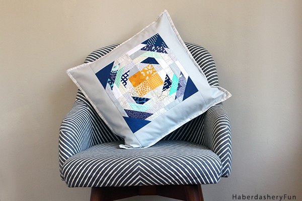 Scrap Apple Block Pillow HaberdasheryFun