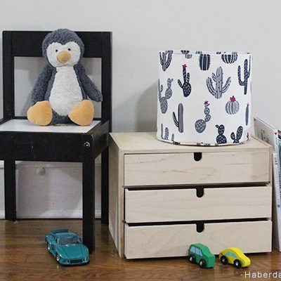 Sew A Round Canvas Fabric Bin