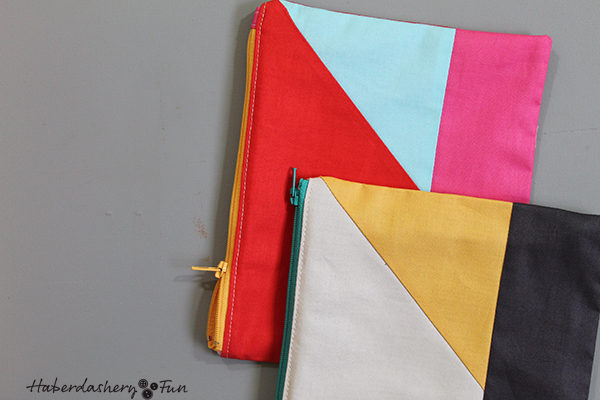 Make Half Square Triangle Pouches