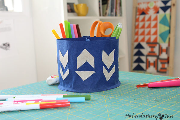 Sew A Kraft-Tex Storage Caddy