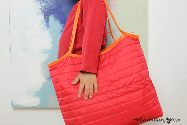 Sew A Quilted Ripstop Reversible Tote