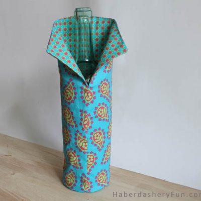 DIY.. Easy Fabric Wine Cover