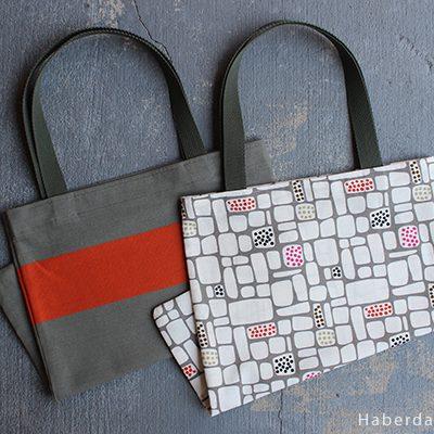 DIY.. Colorful Dish Towel Tote Bags